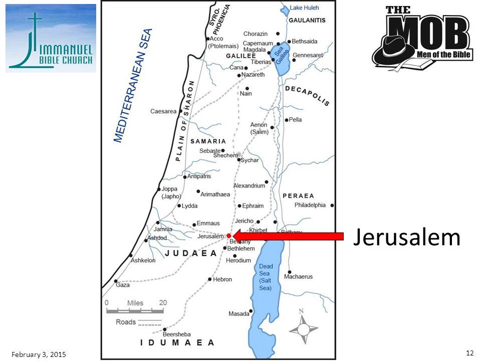 Jerusalem February 3, 2015
