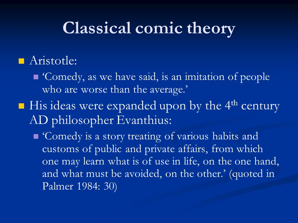 Classical comic theory
