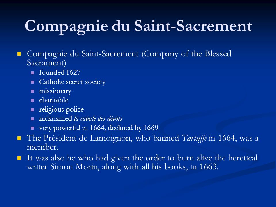 Compagnie du Saint-Sacrement