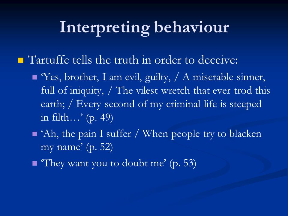 Interpreting behaviour