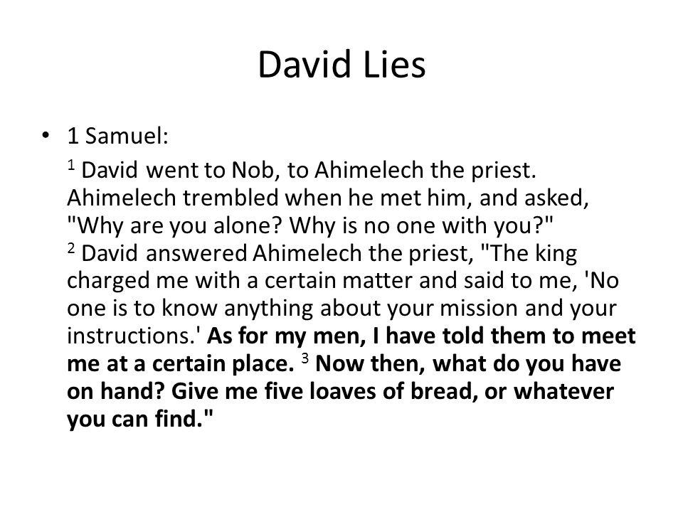 David Lies 1 Samuel: