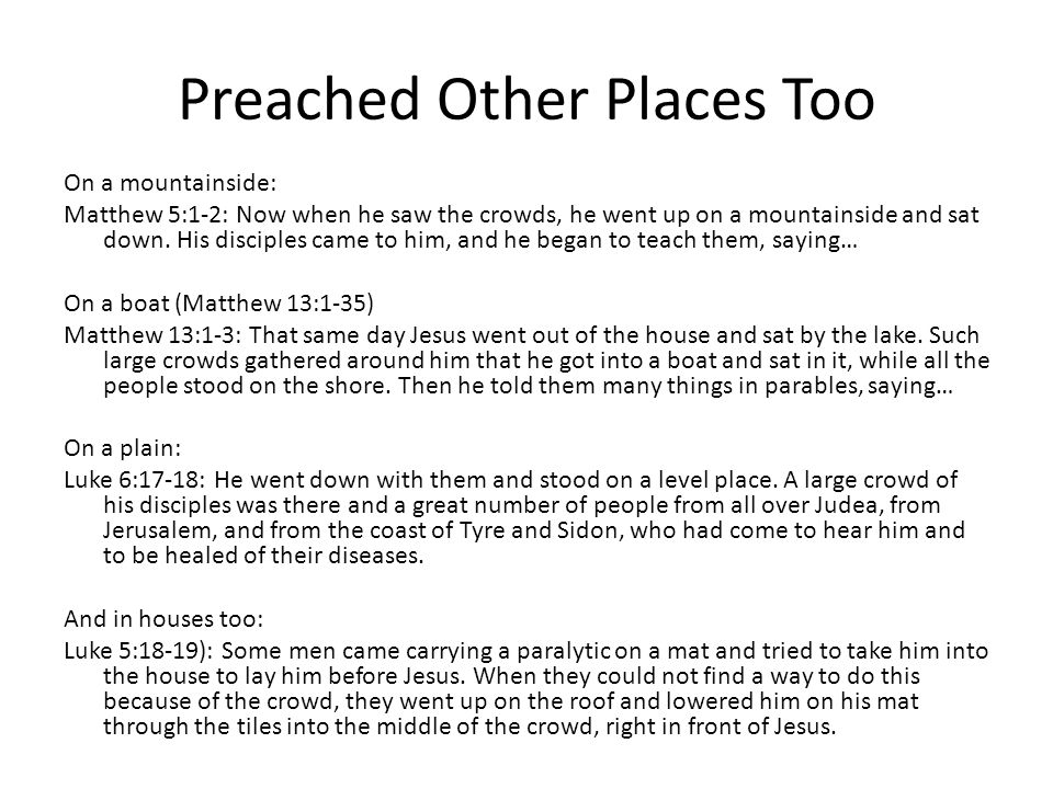Preached Other Places Too