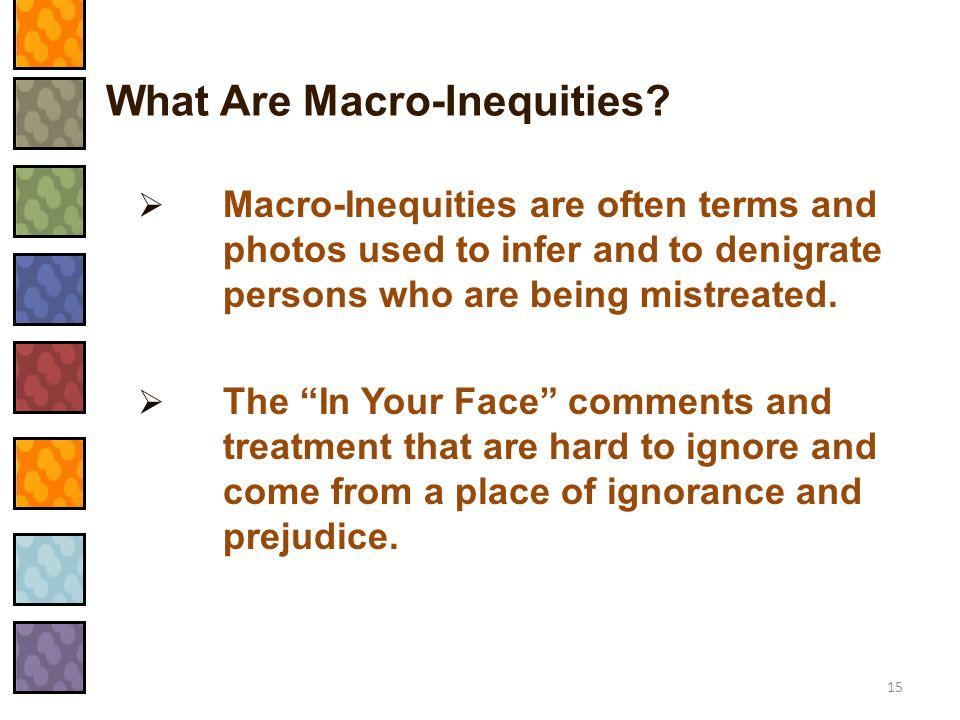 What Are Macro-Inequities