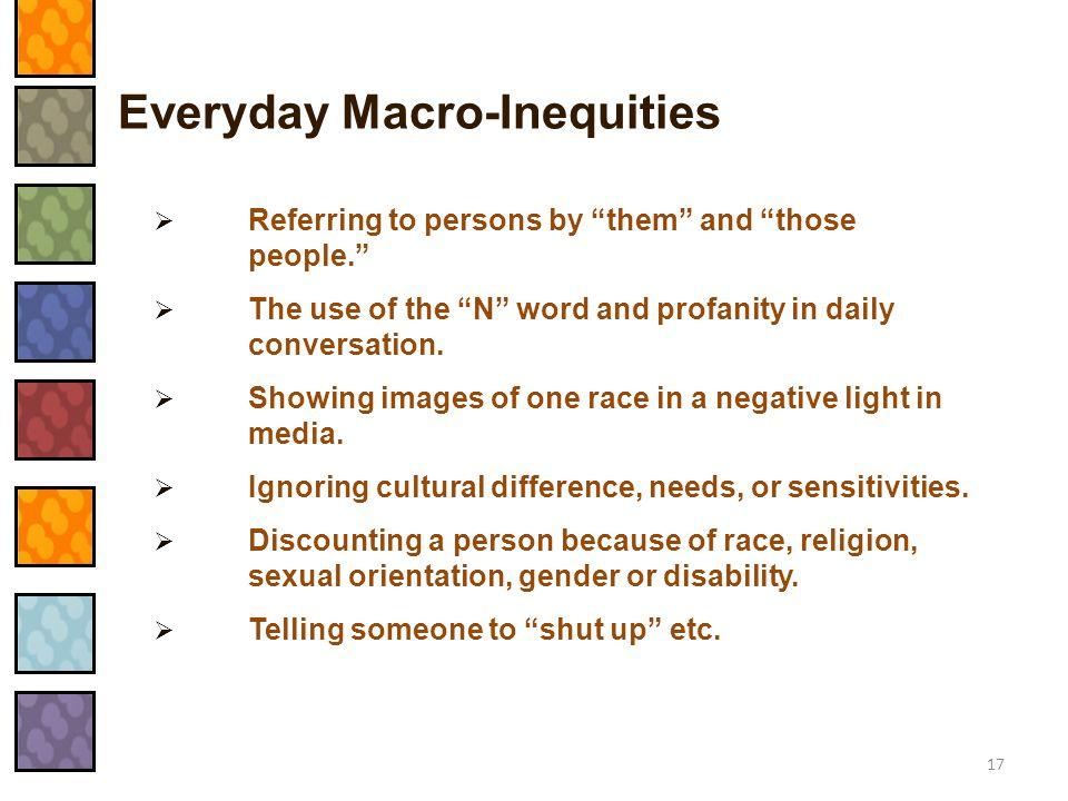 Everyday Macro-Inequities