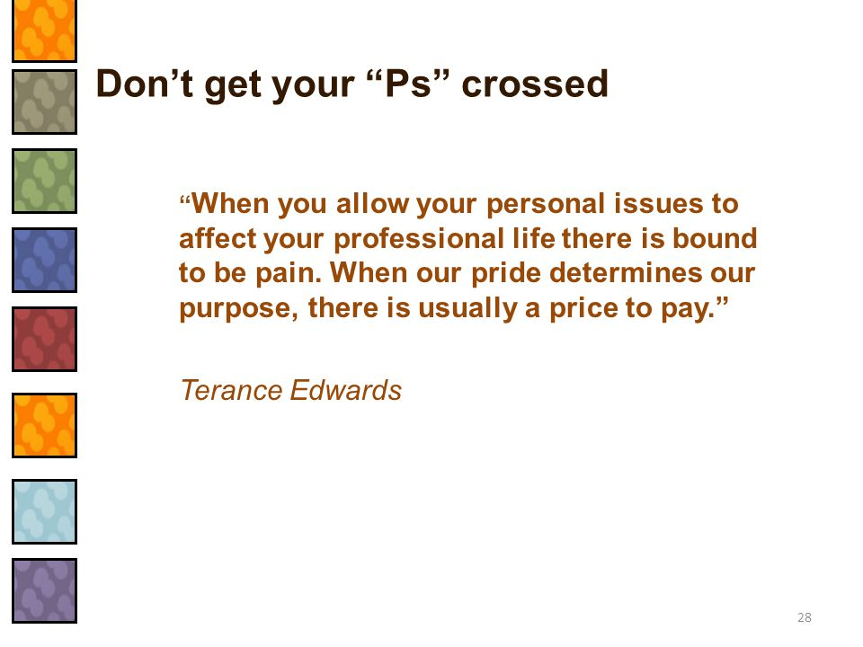 Don't get your Ps crossed