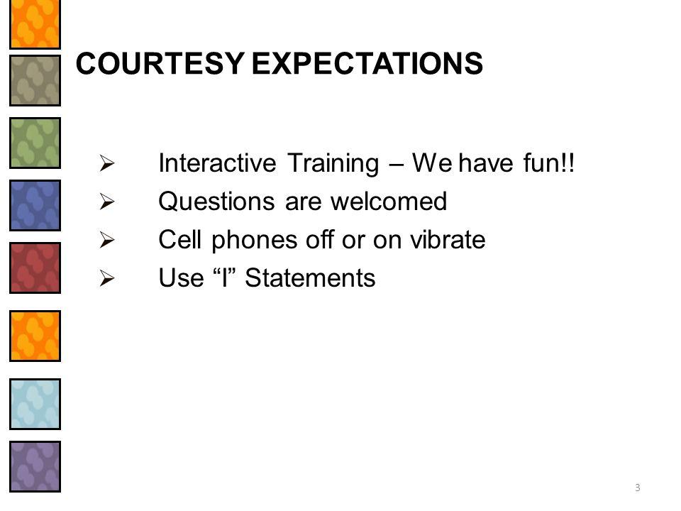 COURTESY EXPECTATIONS