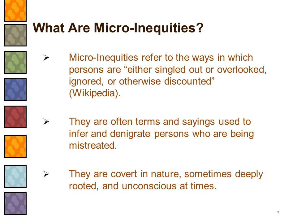 What Are Micro-Inequities
