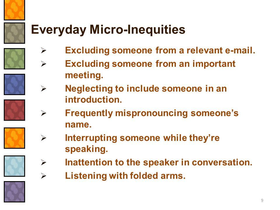 Everyday Micro-Inequities