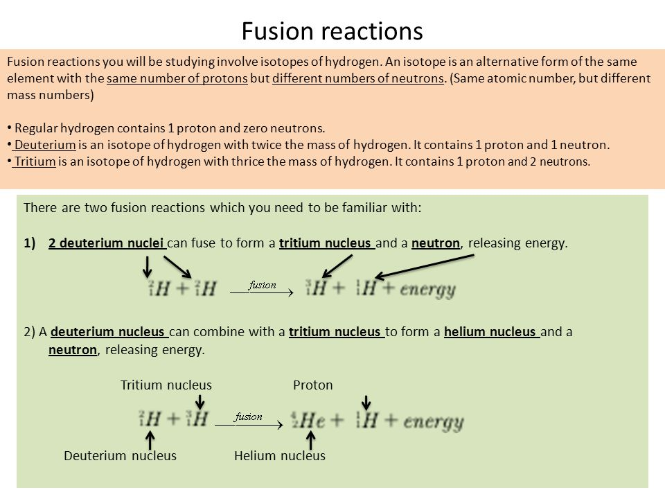 Fusion reactions