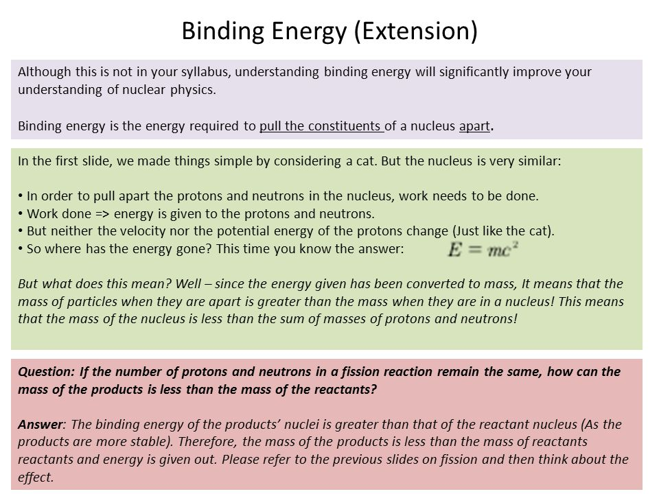 Binding Energy (Extension)