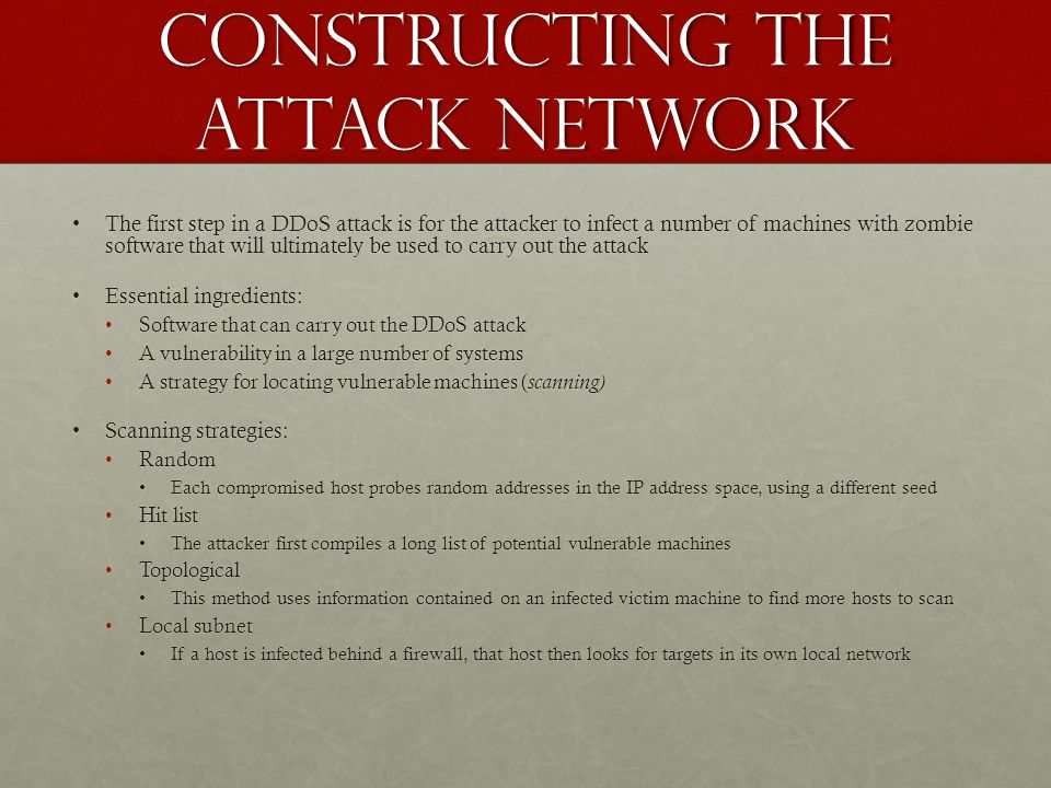 Constructing the Attack Network
