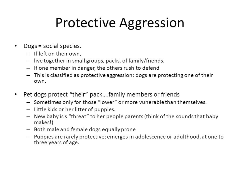 Protective Aggression