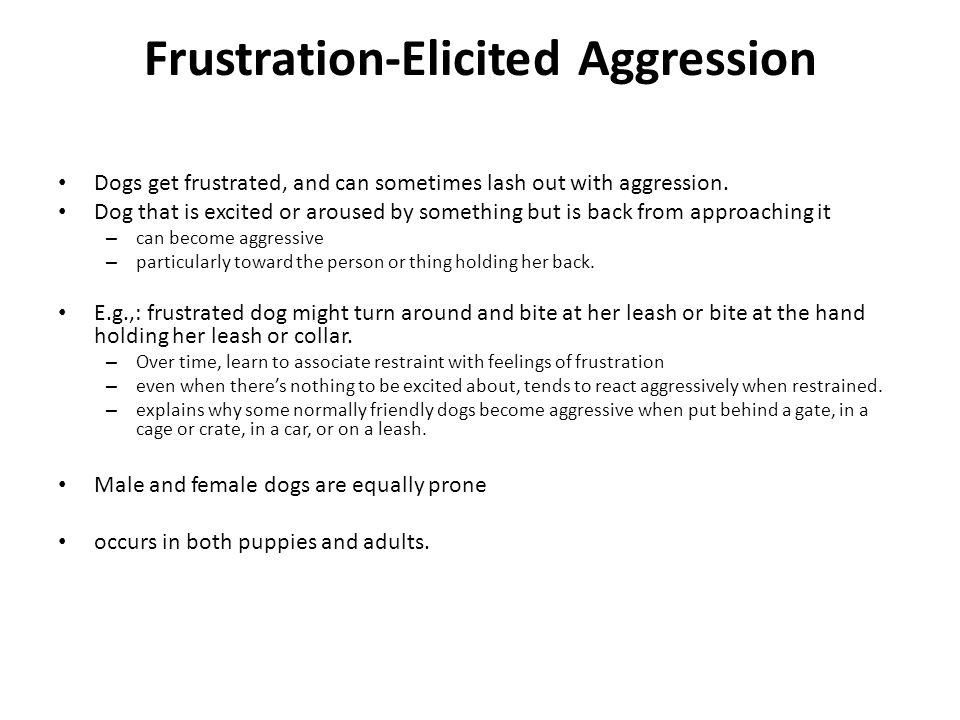 Frustration-Elicited Aggression