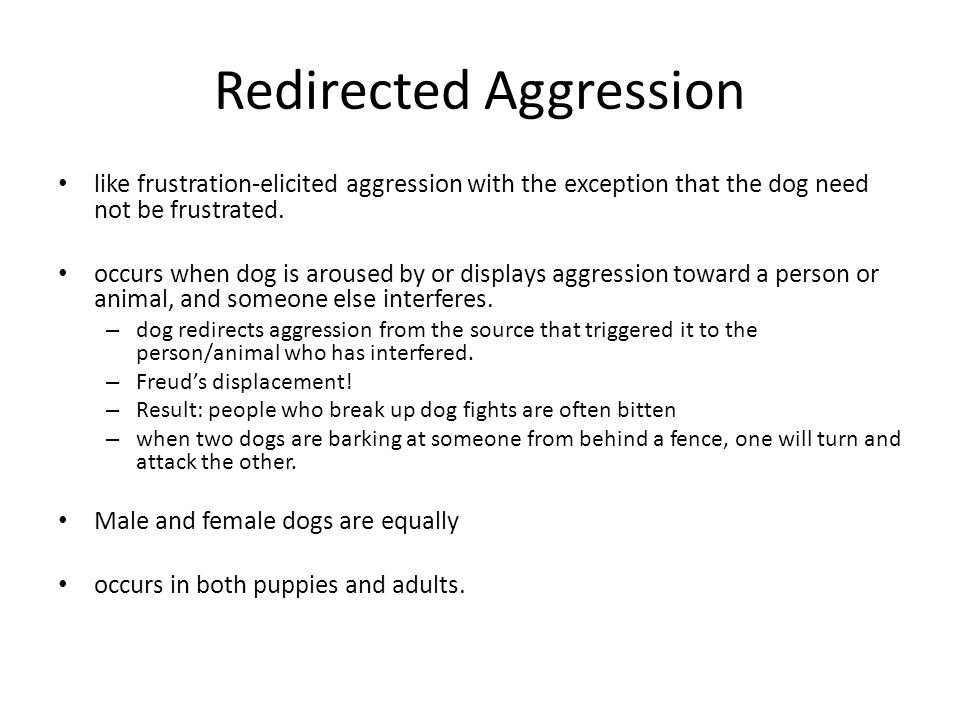Redirected Aggression