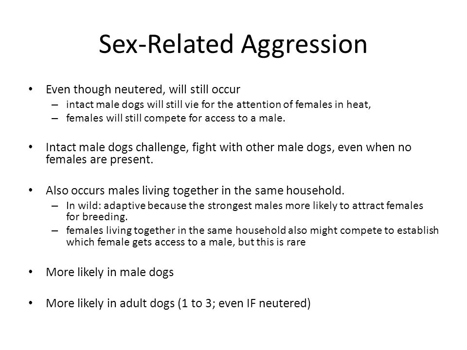 Sex-Related Aggression