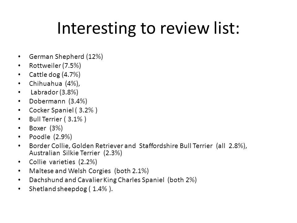 Interesting to review list: