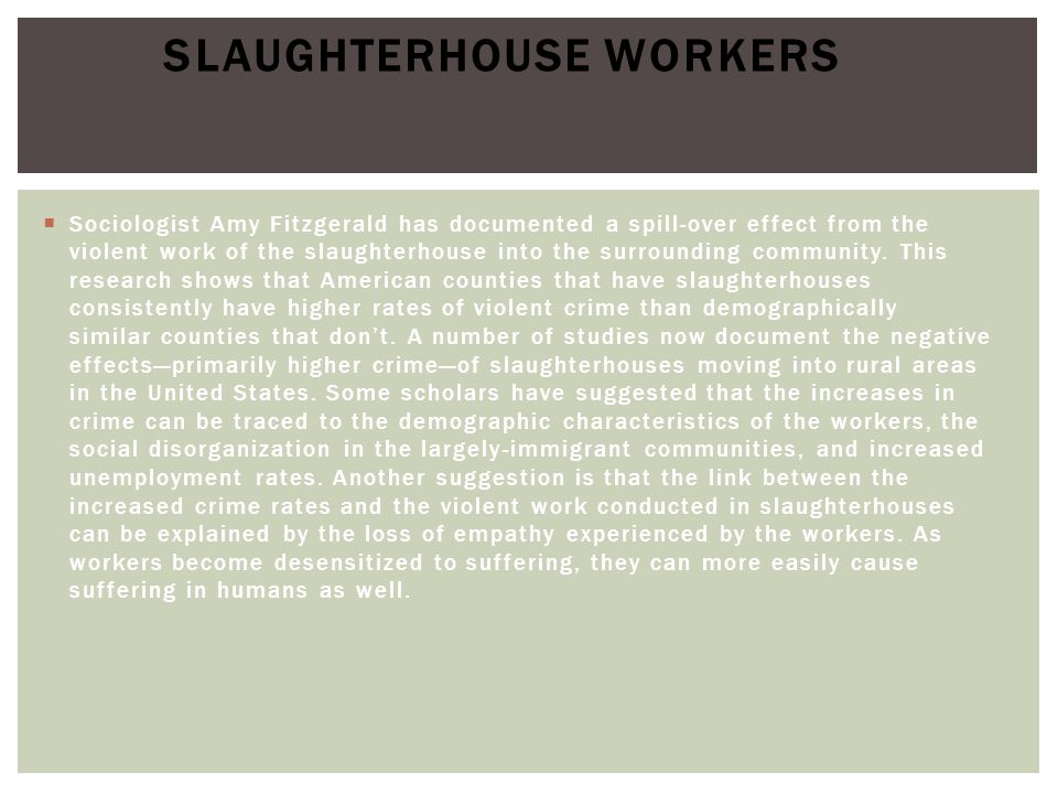 Slaughterhouse Workers