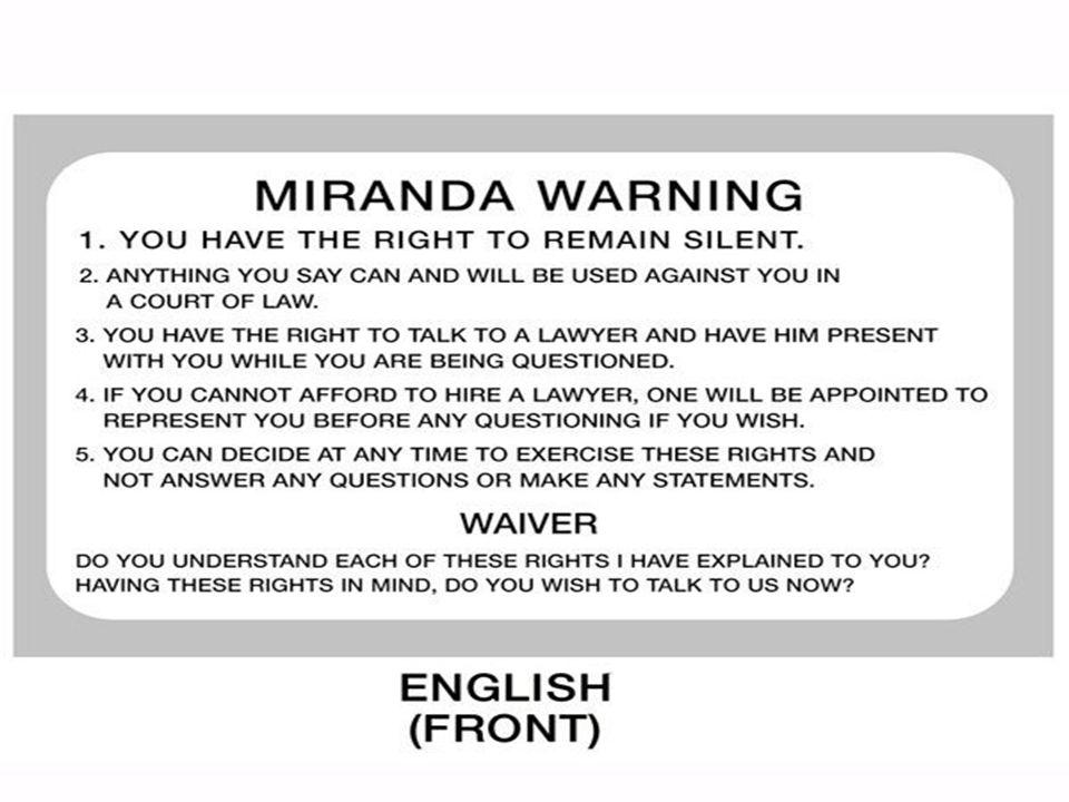 Actual miranda warning