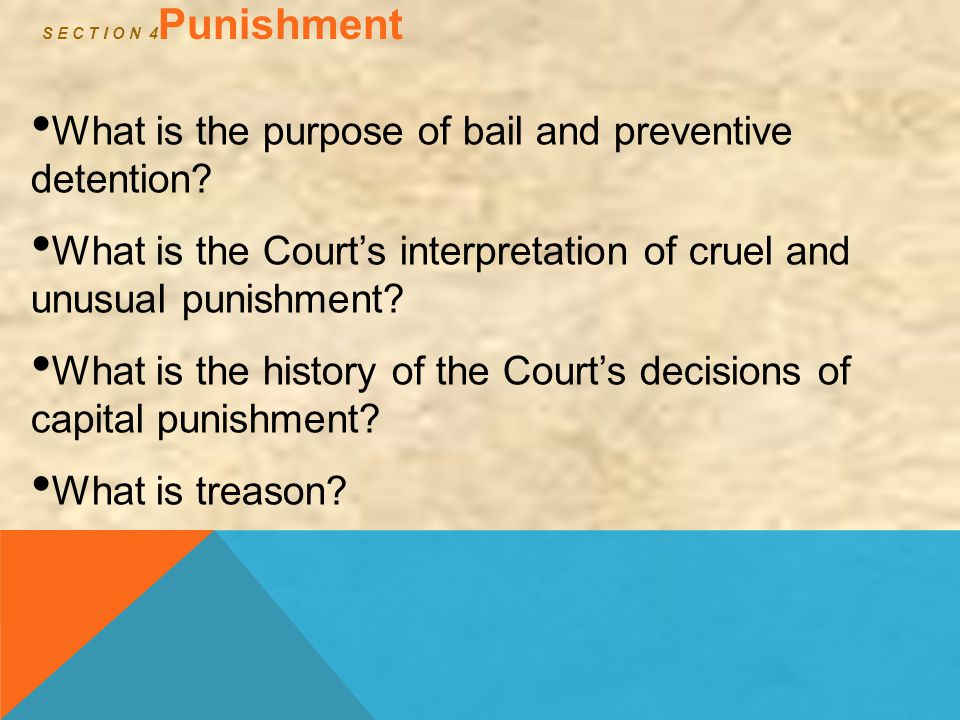 What is the purpose of bail and preventive detention