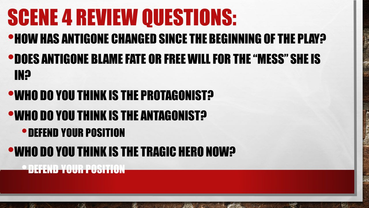 Scene 4 Review Questions:
