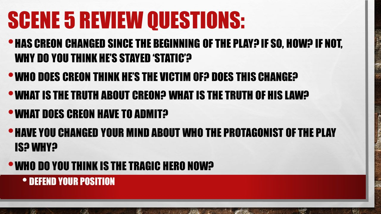 Scene 5 Review Questions: