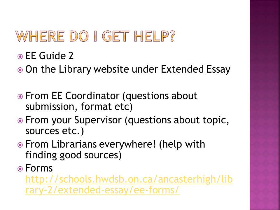 Where do I get Help EE Guide 2