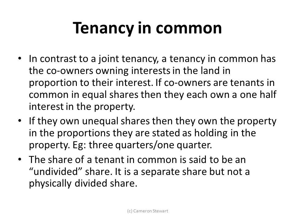 Tenancy in common