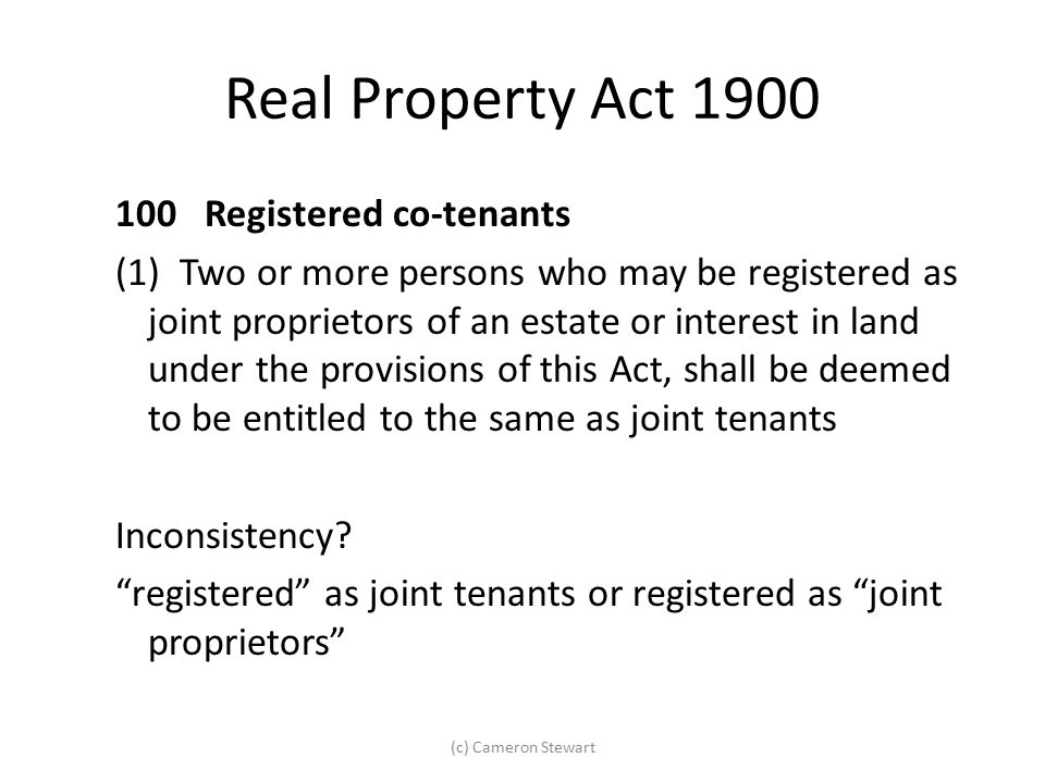 Real Property Act 1900