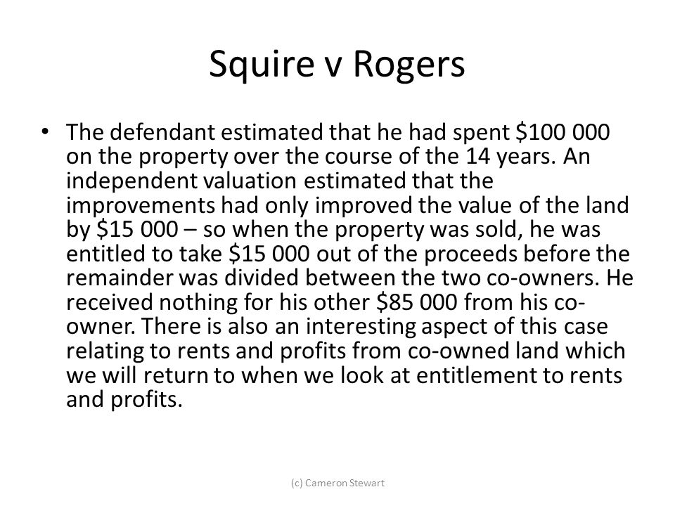 Squire v Rogers