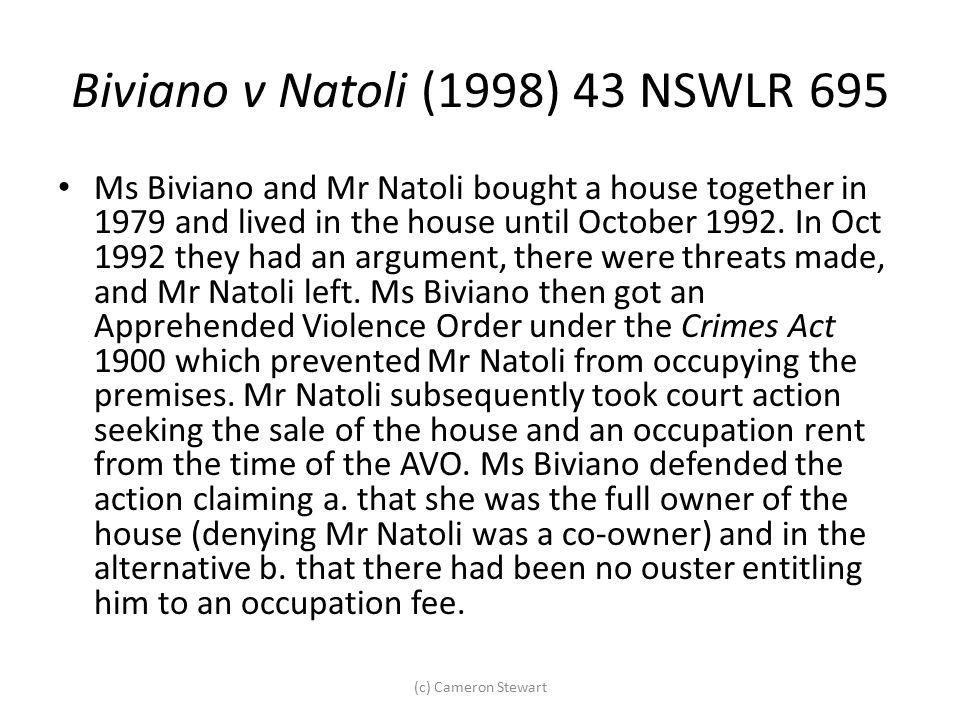 Biviano v Natoli (1998) 43 NSWLR 695