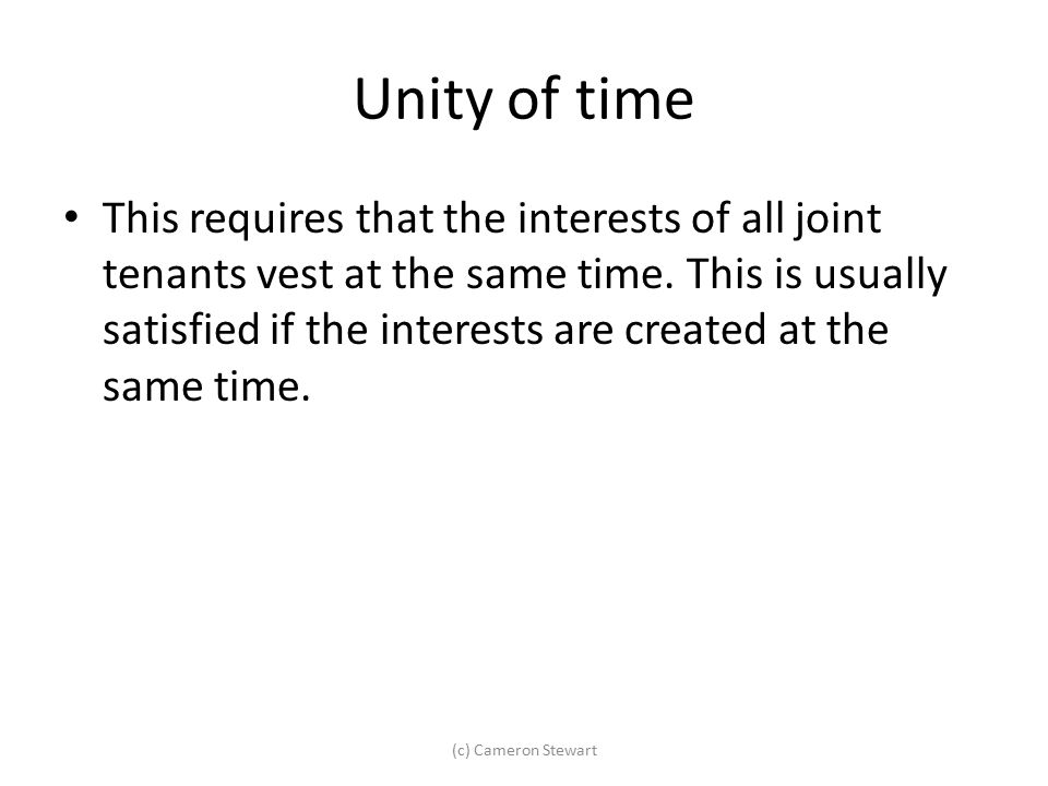 Unity of time