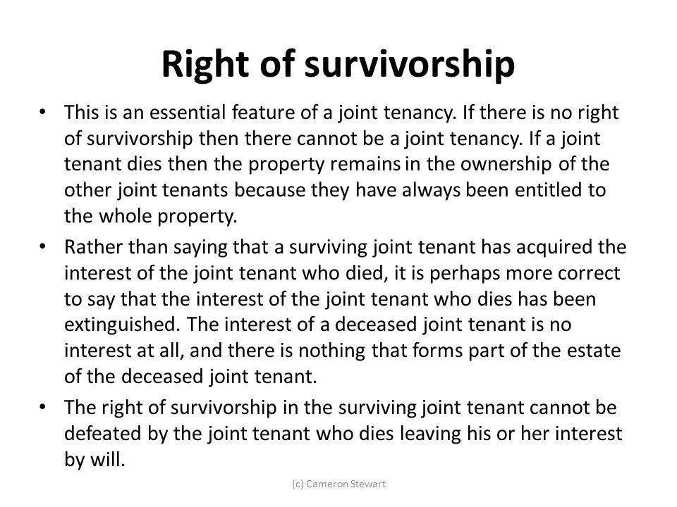 Right of survivorship