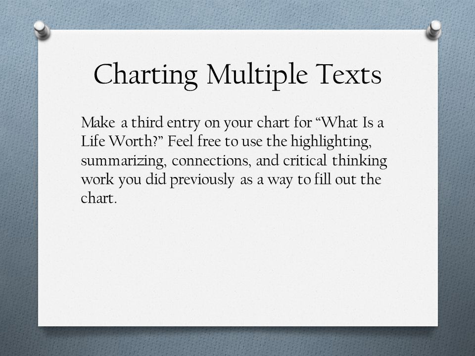 Charting Multiple Texts