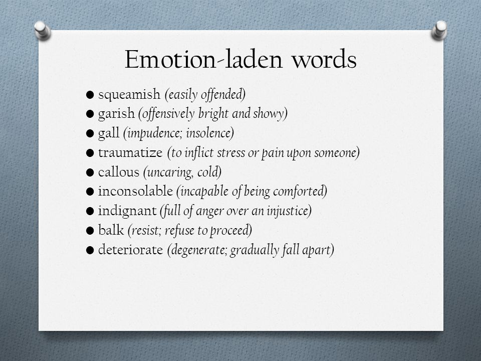 Emotion-laden words