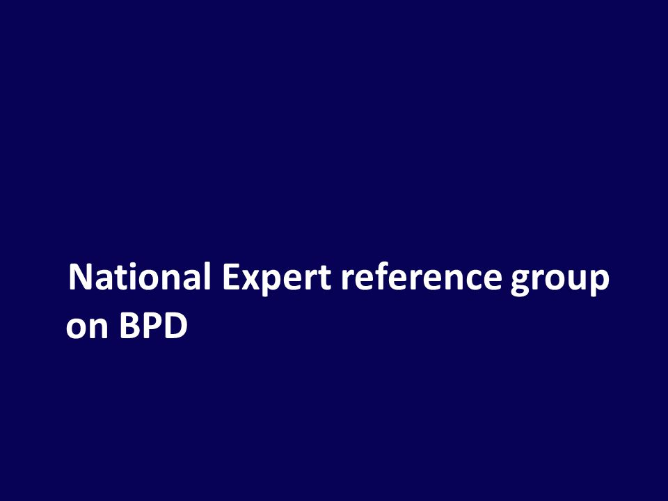 National Expert reference group on BPD