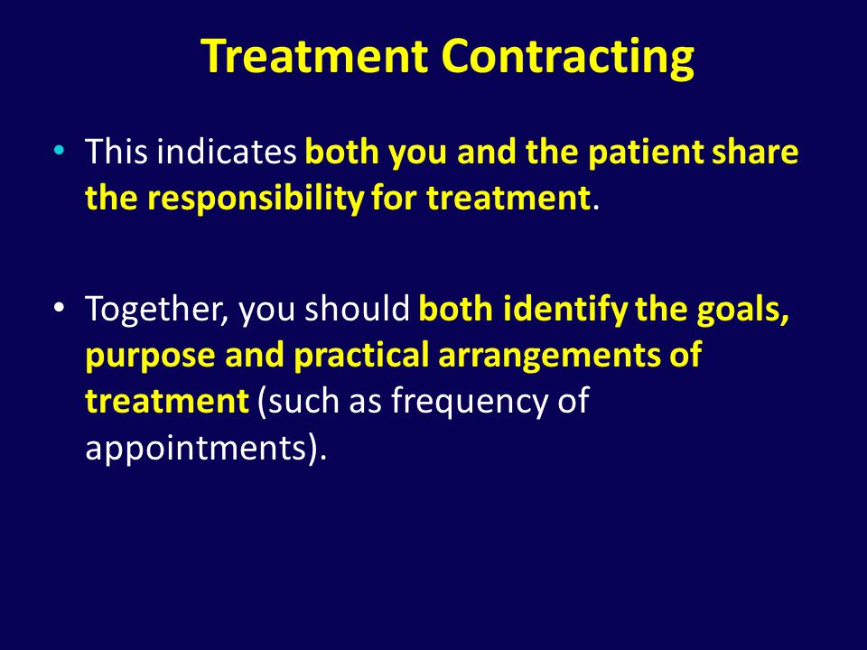 Treatment Contracting