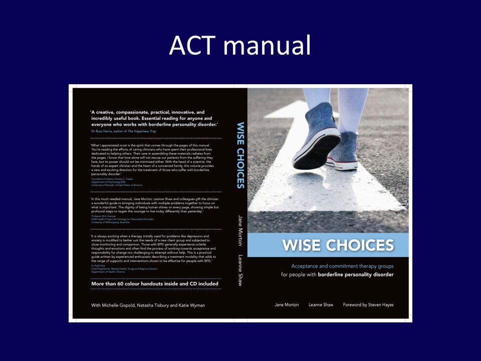 ACT manual