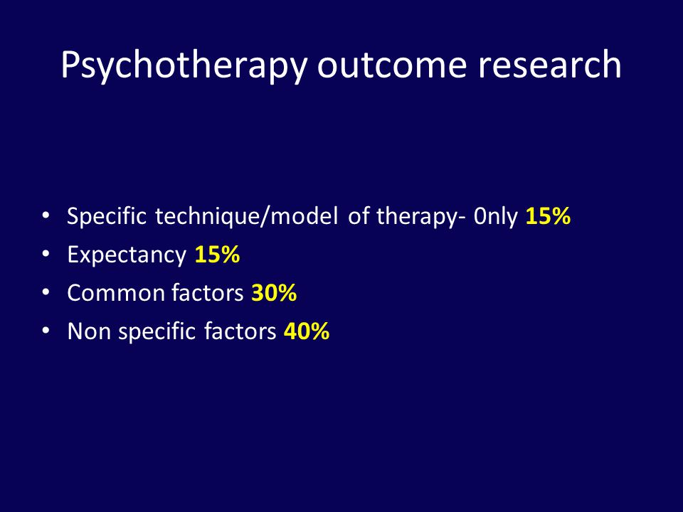 Psychotherapy outcome research