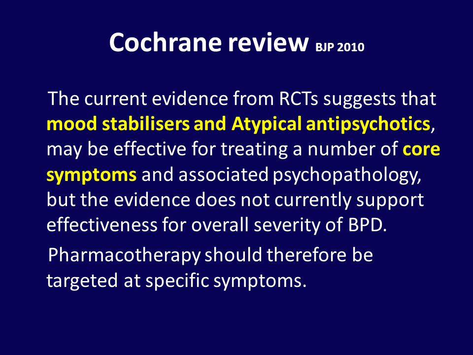 Cochrane review BJP 2010