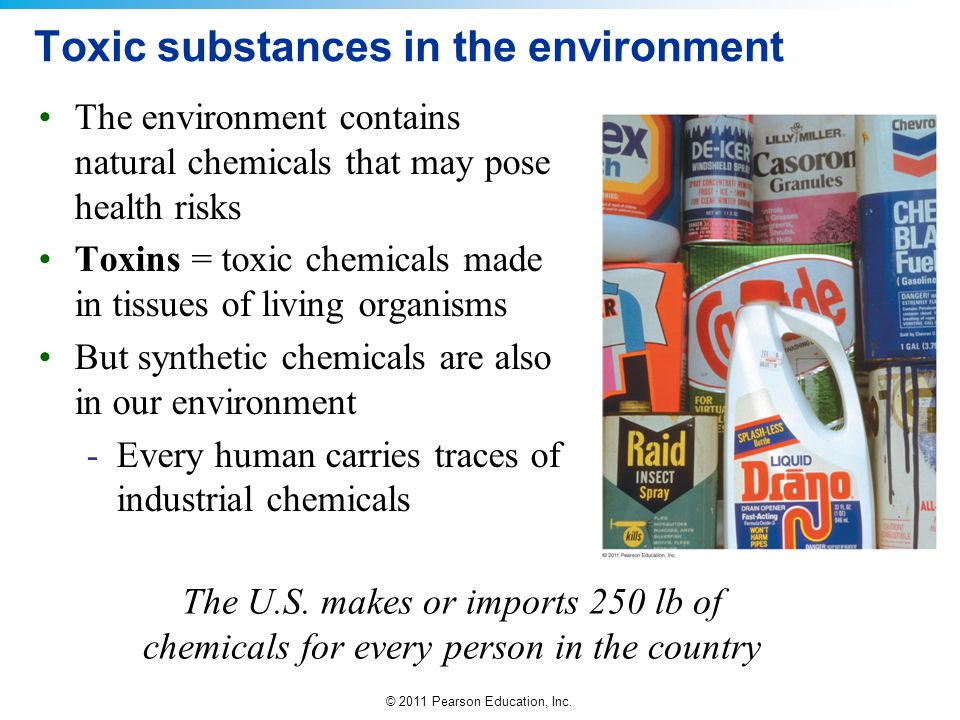 Toxic substances in the environment