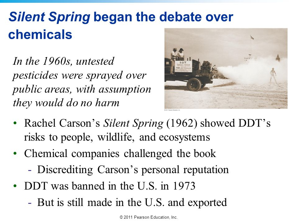 Silent Spring began the debate over chemicals