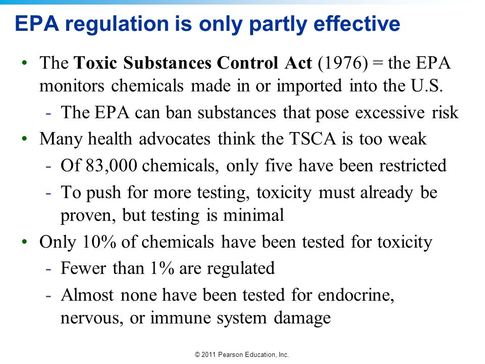EPA regulation is only partly effective