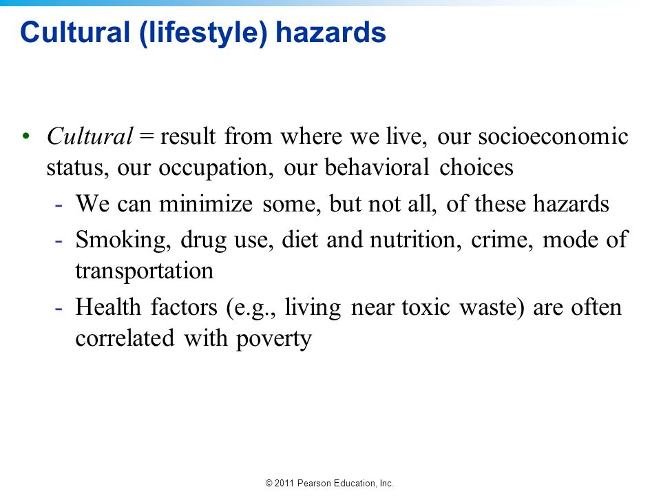 Cultural (lifestyle) hazards