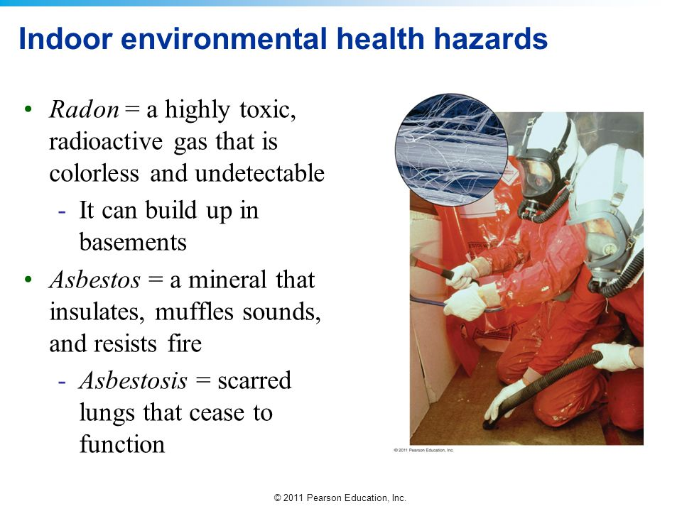 Indoor environmental health hazards
