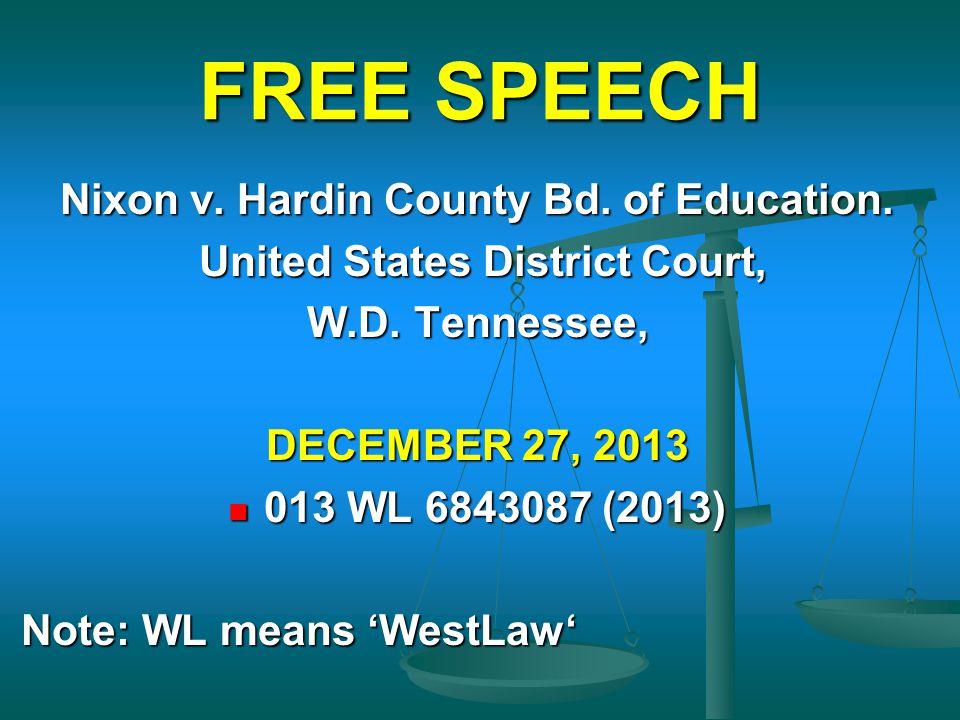 Nixon v. Hardin County Bd. of Education.