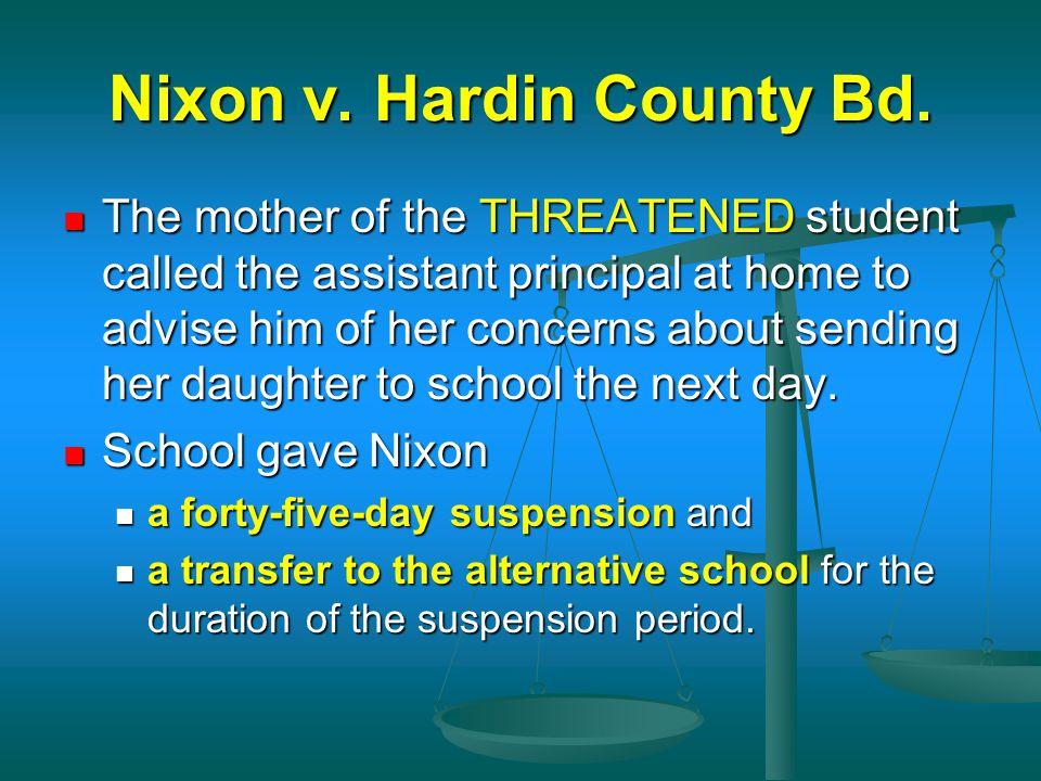 Nixon v. Hardin County Bd.