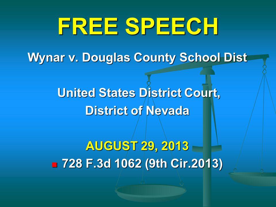 Wynar v. Douglas County School Dist