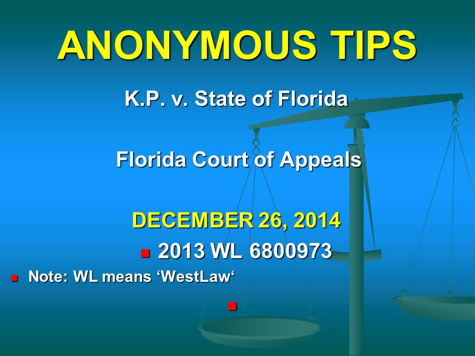 Florida Court of Appeals
