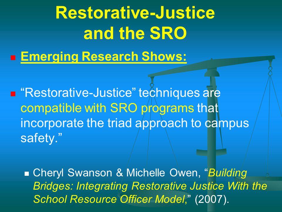 Restorative-Justice and the SRO