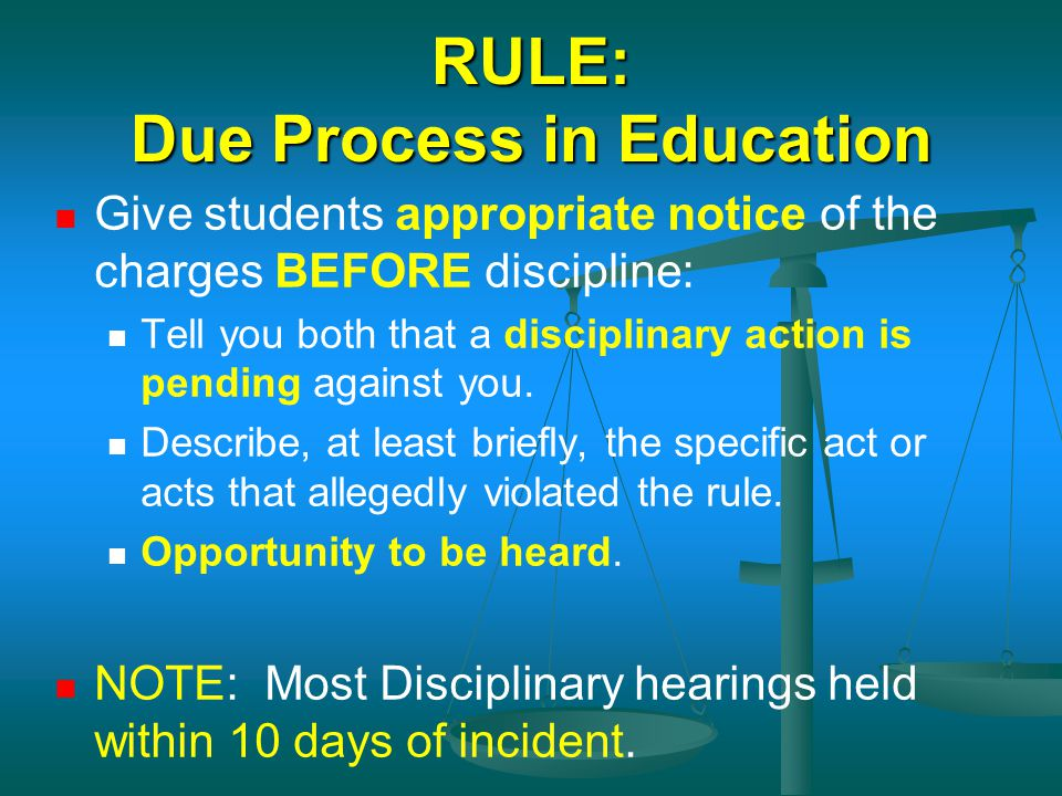 RULE: Due Process in Education